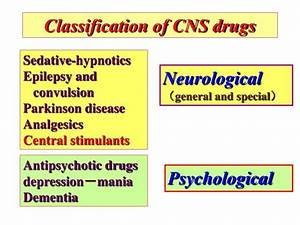 Ppt Classification Of Cns Drugs Powerpoint Presentation