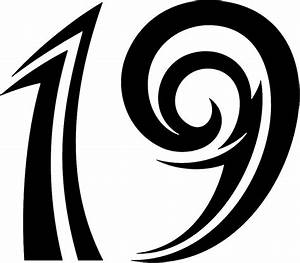 Tnorigin 19 Tribal Racing Numbers Graphic Decal Stickers