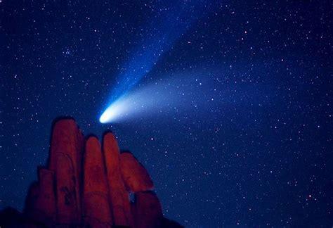 apod  november  comet hale bopp  indian cove