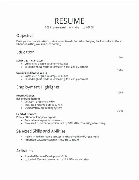 Or are you a seasoned professional who's combination resumes — best for experienced professionals who have a wide range of skills and qualifications for jobs in their industry. 40 First Job Resume Template in 2020 | Job resume examples, Basic resume, Job resume template
