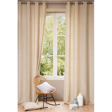 rideaux pour chambre de bébé rideau à œillets en lavé beige 130 x 300 cm maisons
