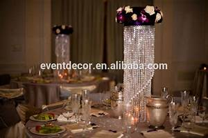 Crystal chandelier table centerpieces for weddings view