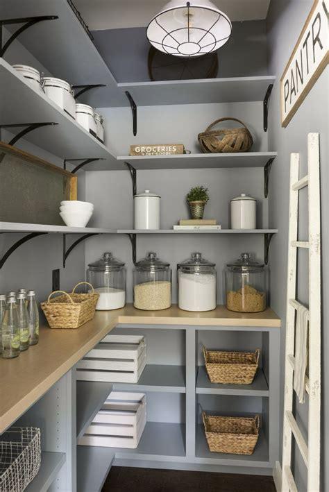 blue pantry renovation  plenty  storage wood