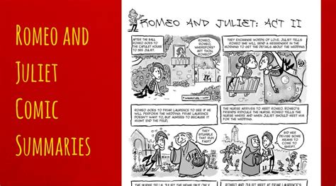 romeo and juliet comics and activities to use while