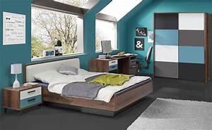 Jugendzimmer Mit Bett 140x200 : jugendzimmer kinderzimmer bett schlammeiche blau wei grau schwarz neu 28668 ~ Bigdaddyawards.com Haus und Dekorationen