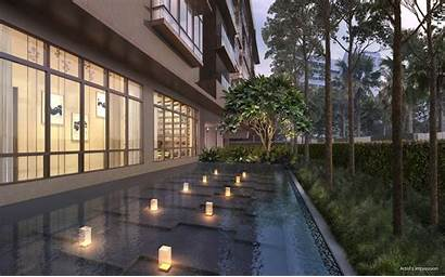 Parkwood Residences Pool Singapore Near Reflective Sg
