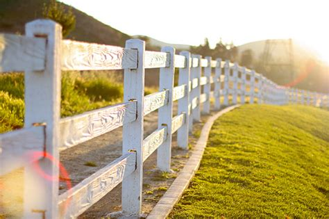 Farm with White Picket Fence