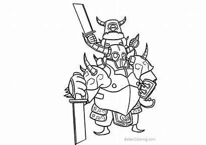 Clash Royale Coloring Pages Printable Adults