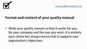 Why Write A Quality Manual