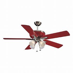 Harbor breeze quot tiempo brushed nickel and red
