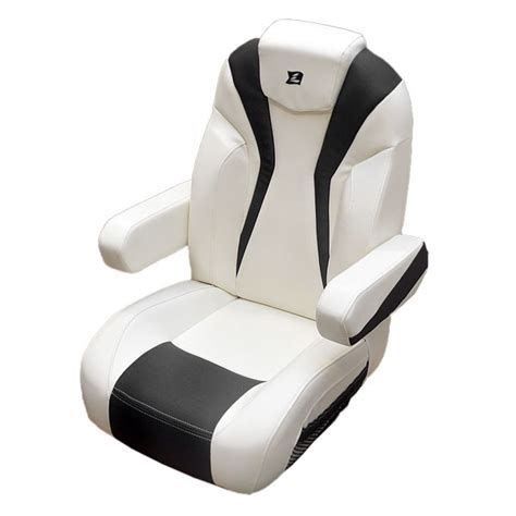 used captain chairs for boats larson 15 lxi white carbon reclining boat captains seat