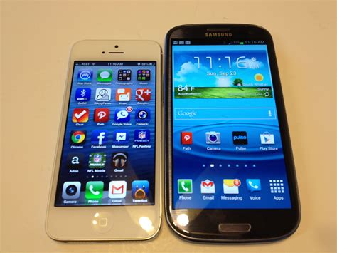 iphone vs samsung iphone iphone 5 vs samsung galaxy s3