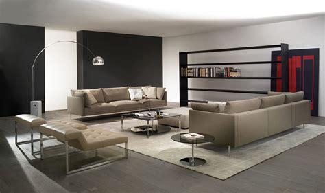 Cozy Contemporary Sofas Decorating Luxurious Room Concept