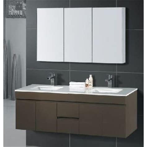 Wall Hung 150cm Double Bowl Slim Onyx Top Vanity Temple