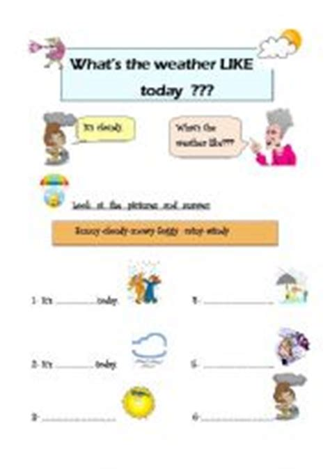 what 180 s the weather like today esl worksheet by isill