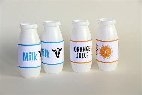 play kitchen milk juice bottles  bear  fox