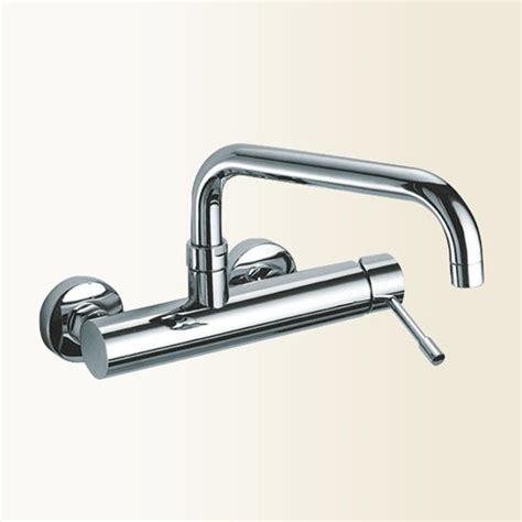 rubinetti cucina a parete linea cucina miscelatore lavello a parete finitura cromo