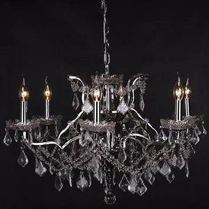 6 branch chrome shallow cut glass chandelier furniture for Chandeliers for bathrooms uk