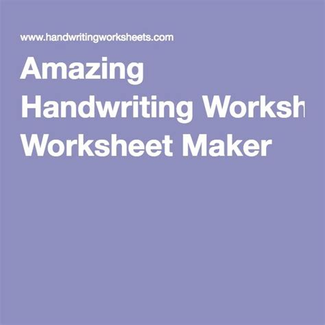 1000 ideas about handwriting worksheets on