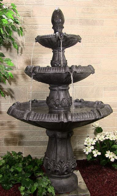 classic pineapple 3 tier contemporary outdoor