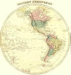 Western Hemisphere Outline Map