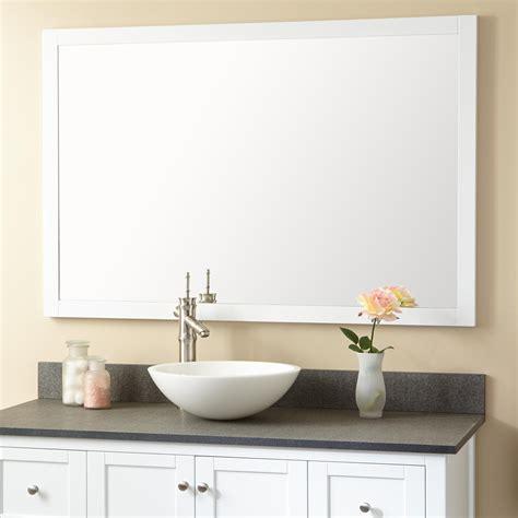 Mirrors Bathroom Vanity by Everett Vanity Mirror White Framed Mirrors Bathroom