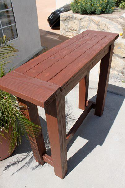 ana white   project outdoor bar height table