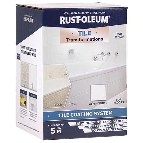 rust oleum aspen white tile transformations tile coating