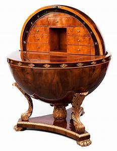 Sekretär Nussbaum Modern : bedeutender globus sekret r hampel fine art auctions ~ Michelbontemps.com Haus und Dekorationen