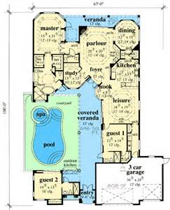 courtyard plans exciting courtyard house plan 33532eb 1st floor master suite butler walk in pantry cad
