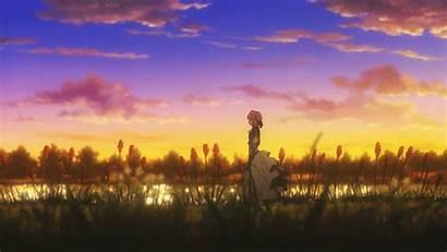Evergarden Violet Animated Scenery Anime Sunset Naho