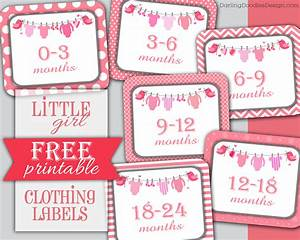 free printable children39s clothing size labels darling With clothing labels for you