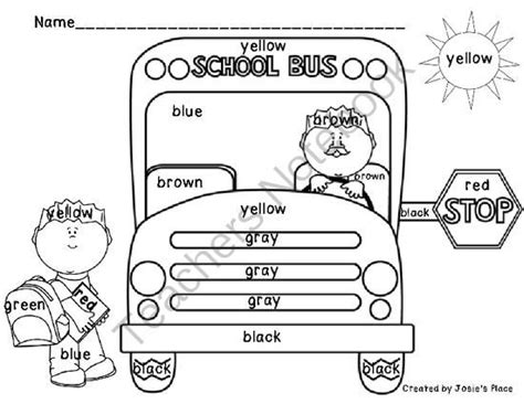 15 best school safety images on school 256 | 50c3d719dc03e9a162e4cef96e22f5b9 color word activities school bus safety
