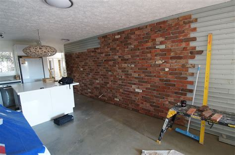 Brick Veneer Feature Wall - Heazlewood Tiling and Cladding ...