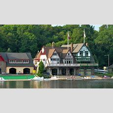 Boathouse Row On The Schuylkill River  Philadelphia, Pa