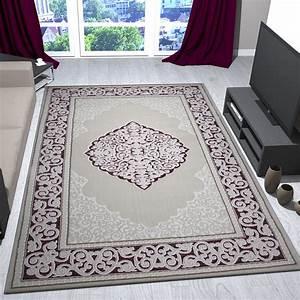 teppich klassisch rosa beige creme bordure mit relief und With balkon teppich mit ornament tapete rosa