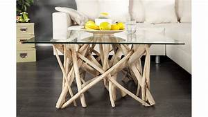 Table Basse En Bois Flotté : belle table de salon en bois flott ~ Teatrodelosmanantiales.com Idées de Décoration