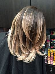 Dark Brown Hair with Blonde Balayage