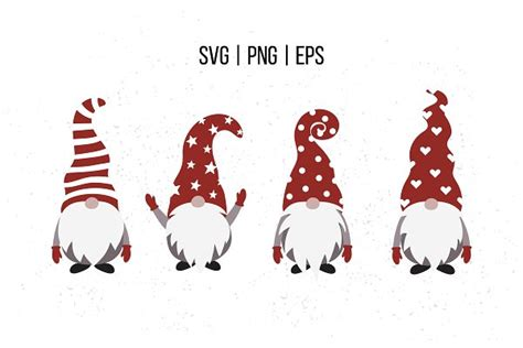 With this free easter gnomes svg pack, you will get six gnomes. Christmas gnomes SVG, Scandinavian | Pre-Designed ...