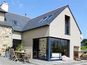 renovation maison bretonne extension bois sur maison en With amenagement jardin maison neuve 0 creation dun jardin pour une maison neuve laurey