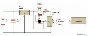 Ir Remote Control Tester Circuit Diagram