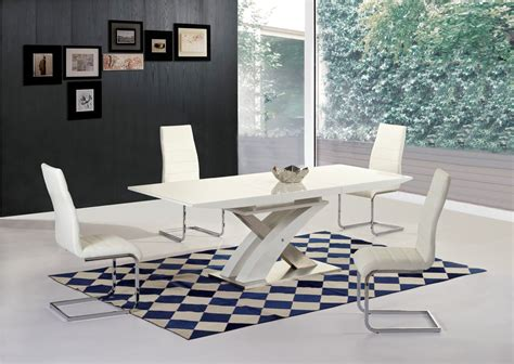 glass table six chairs white high gloss glass extending dining table 6 chairs