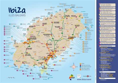 ibiza beaches map las islas baleares pinterest ibiza