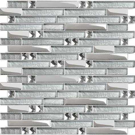glass mosaic kitchen backsplash metal glass mosaic bath wall silver stainless steel backsplash