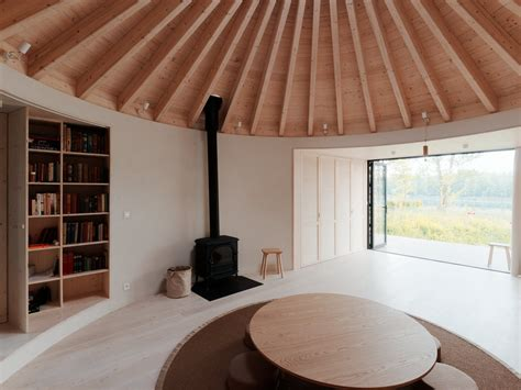 serene cabin  slovakia takes  shape   yurt