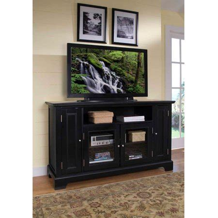 Tv Credenza Black by Home Styles Bedford Black Tv Credenza Walmart
