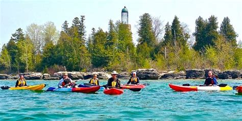 door county kayaking door county kayaking lakeshore adventures kayak tours