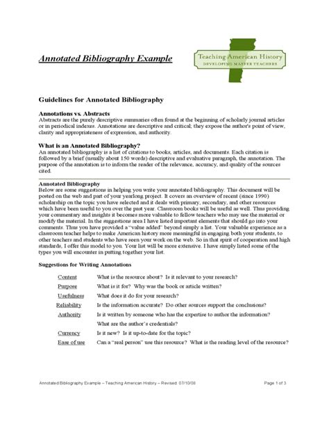 Annotated Resume Exles by Sle Annotated Bibliography Exle Free