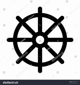 Dharmachakra Wheel Dharma Symbol Buddhism Hinduism Stock ...