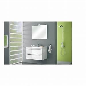 1 With meuble salle de bain 90 cm blanc